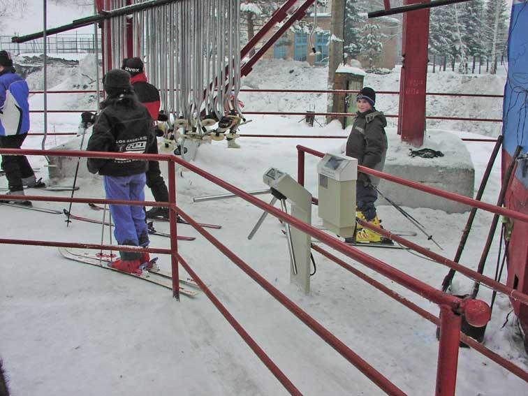 Kültéri forgóvilla sípályához