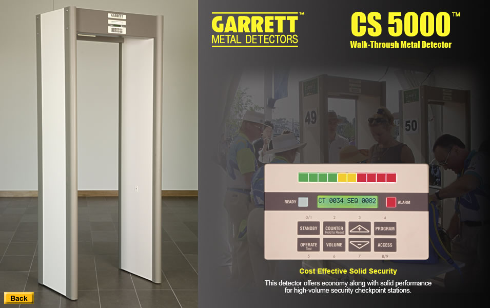 Garrett cs-5000 fémkereső kapu walk-through metal detector