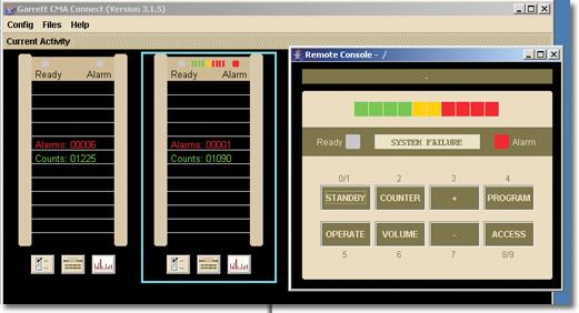 GARRETT CMA IP alapú távfelügyeleti modul fémkereső kapukhoz