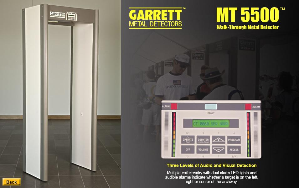 Garrett MT5500 fémkereső kapu zóna kijelző